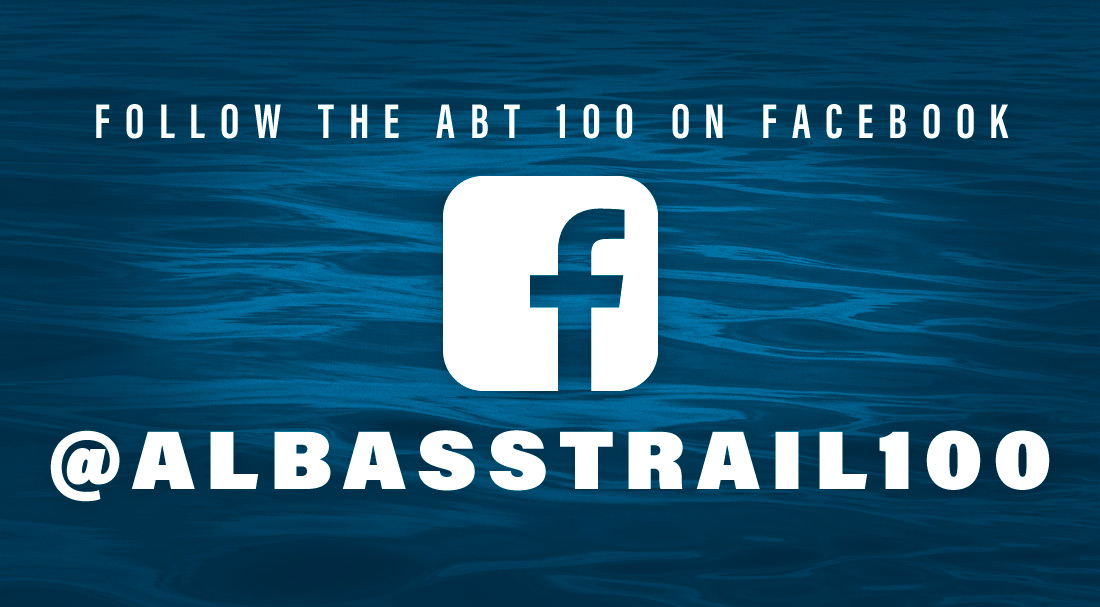 Follow the ABT 100 on Facebook at albasstrail100